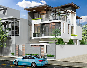 Exterior Villa Design 3D animated