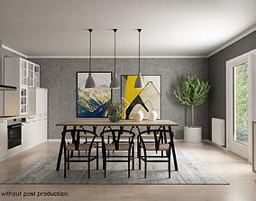 3D Interior Scene Scandinavian 01 VRAY