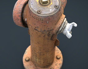 Fire Hydrant 3D model game-ready