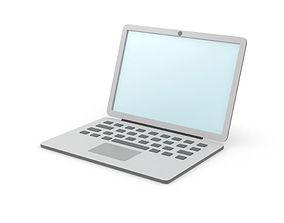 3D windows Laptop simple cartoon clean