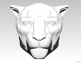 Cat Jaguar puma head bust 3D printable model