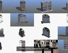3D Modern Building Collection 03