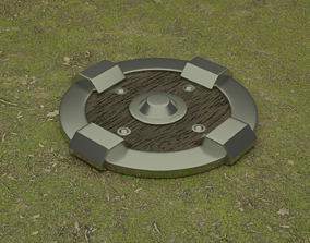 game-ready Medieval Shield 3D Model Low Poly