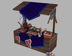 Market stand 3D model realtime