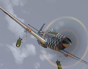 Mustang P-51 D in flight 3D
