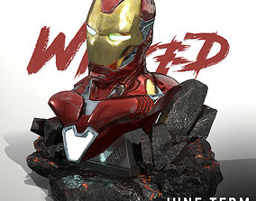 Wicked Marvel Avengers Iron man 3d Bust STL ready for 1