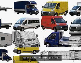 3D Van Truck Minibus Motorhome
