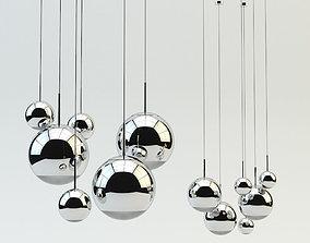 3D Mirror Ball Pendant Chrome Light