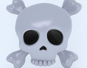 3D model SKULL AND CROSSBONES icon
