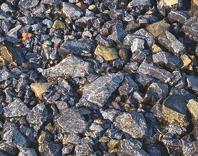 Large blue rubble material 3D