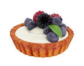 3D Berry mini tart