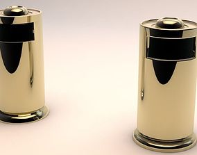 Trash bin Mid-Poly Low-Poly Game Ready Models 3D asset