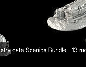 3D model Cemetry gate Scenics Bundle games-toys