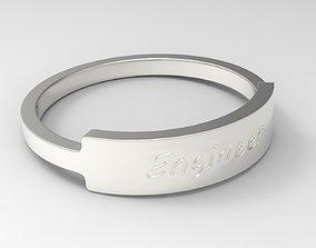Engineer Female Ring Silver 3D print model