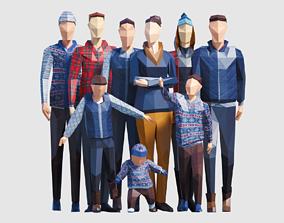 3D model Autumn people