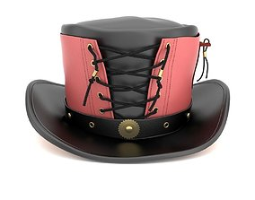 3D model Vested Steampunk Top Hat