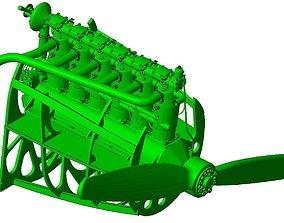 Mercedes D III engine as used on Albatros 3D print model 2
