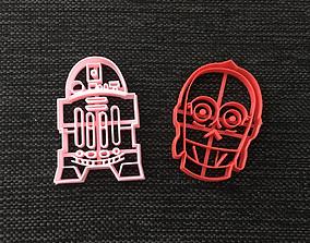 Starwars C-3PO R2D2 Cookie Cutter 3D printable model