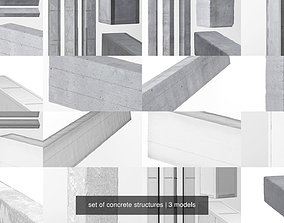 set of concrete structures 3D model