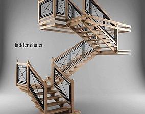 Ladder chalet 3D model
