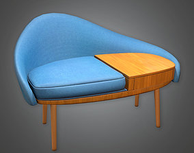3D Designer Chair Midcentury Collection PBR Game Ready