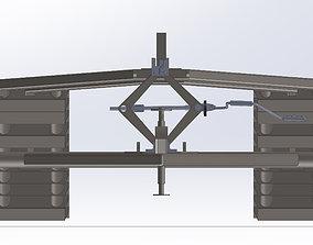 REMOLQUE COCHE 3D model