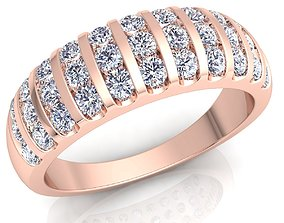 gold-ring sterling Woman Diamond Ring 3d Model Print