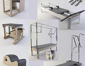 3D model Pilates equipment collection