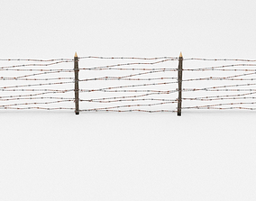 3D model Barb Wire Obstacle barbed