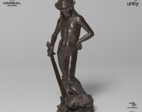 David Donatello Sculpture VR AR Mobile-ready 3D model 1