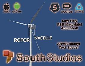 Animated Wind Turbine Power AR VR Unity 3dsmax animated