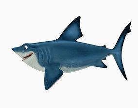 Shark cartoon 3D asset