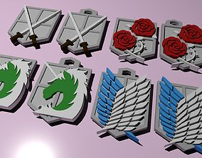 cosplay Shingeki no Kyojin Emblems 3d printable