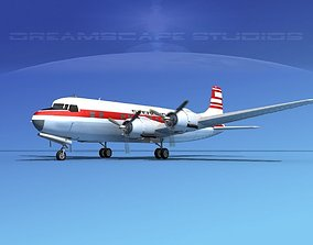 3D model Douglas DC-6 Sterling