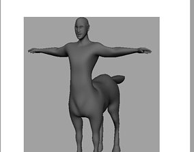 3D model game-ready Low Poly Centaur AAA