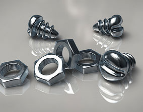 Screw and Nut 3D model