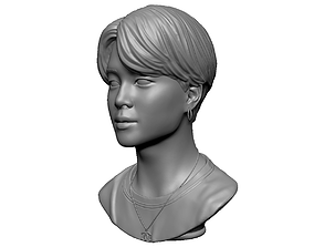 BTS Jimin face 3D print model