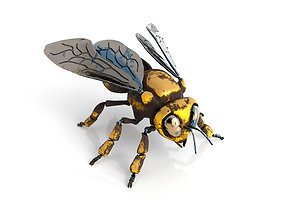 Mechanical bee Low poly model VR / AR ready
