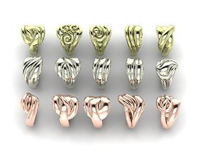 wedding rings 15 in 1 file 3D printable model