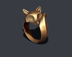 3D printable model fox ring jewellery