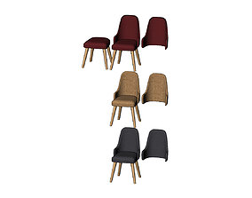 Miniature modern bentwood armchair 3D printable model 1