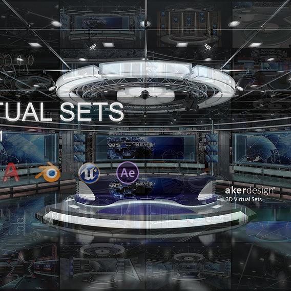 Virtual TV Studio Sets - 3D Model Designs