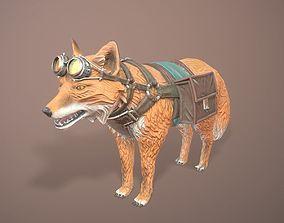 Stylised battle fox 3D model