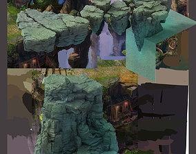 Terrain - Stone 06 3D model