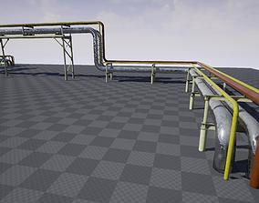 3D asset Modular industrial pipeline B