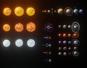 3D model Low Poly Space Adventure Pack