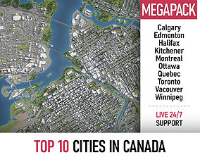 3D Top 10 Cities in Canada MEGAPACK