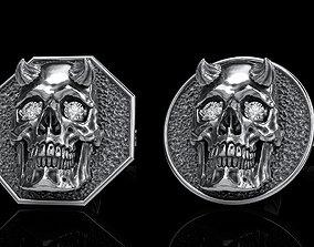 3D model skull earrings studs 2 jewel
