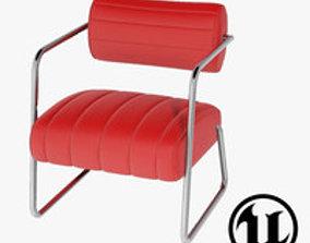 3D model Eileen Gray Bonaparte Chair UE4