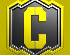call of duty credits logo 3D model